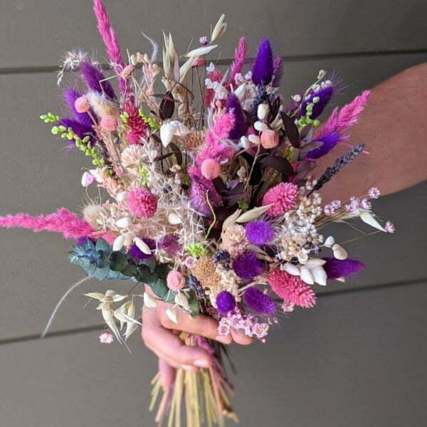 Bouquet de fleurs séchées et fleurs stabilisées, Anastasia