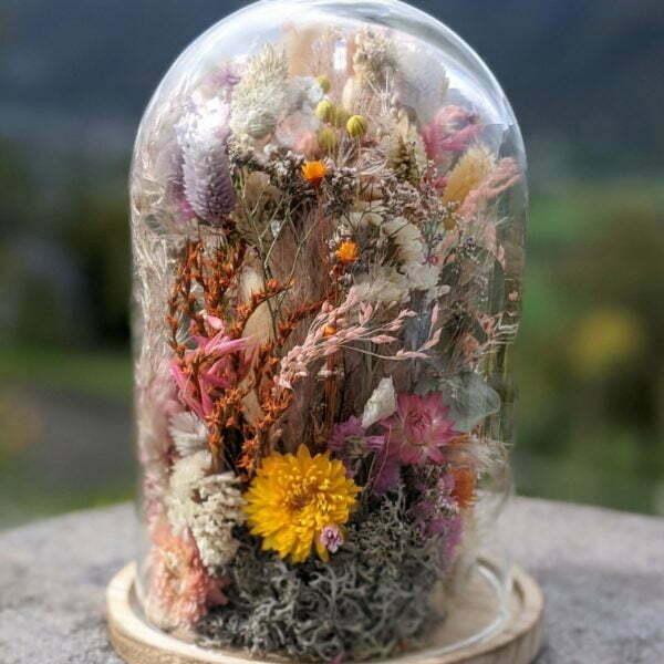Cloche de fleurs séchées, décoration d'intérieur tendance, Yara 2