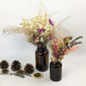 Duo de Bouquets & soliflores en verres teintés recyclés, Lana
