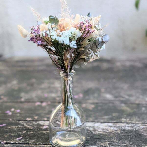 Mini bouquet de fleurs séchées & fleurs stabilisées dans les tons pastel, Gallia 3