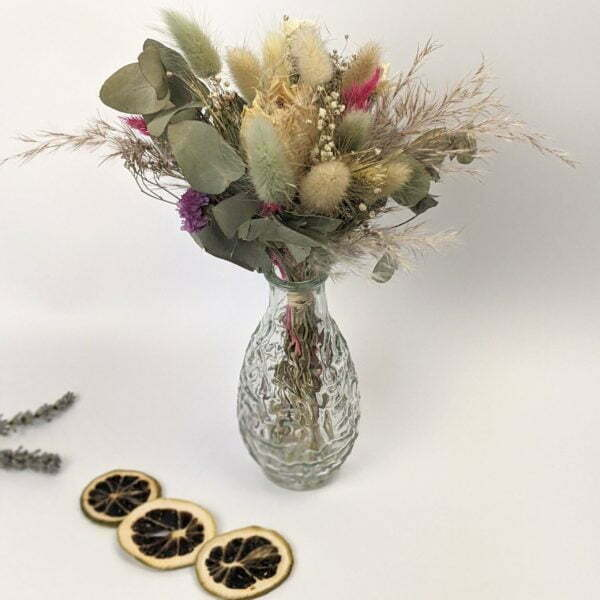 Trio de mini bouquets de fleurs séchées, Gallia 2