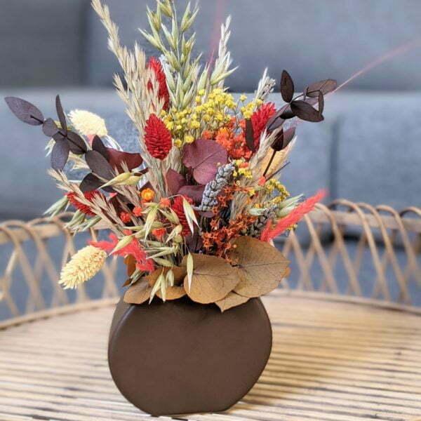 Composition de fleurs stabilisées & fleurs séchées, Natalie