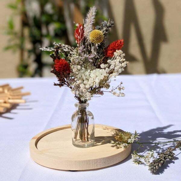 Mini bouquet de fleurs séchées pour décoration de table évènementielle, Fiesta 5