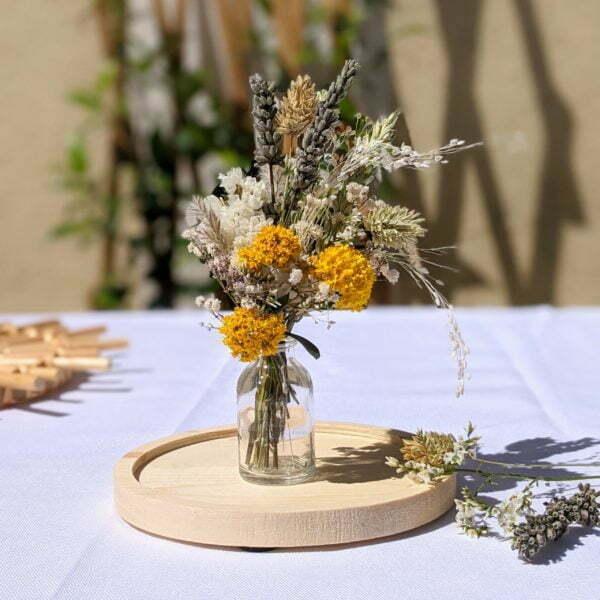 Mini bouquet de fleurs séchées pour décoration de table évènementielle, Fiesta 4