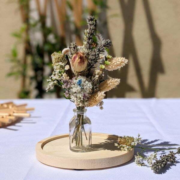 Mini bouquet de fleurs séchées pour décoration de table évènementielle, Fiesta 3