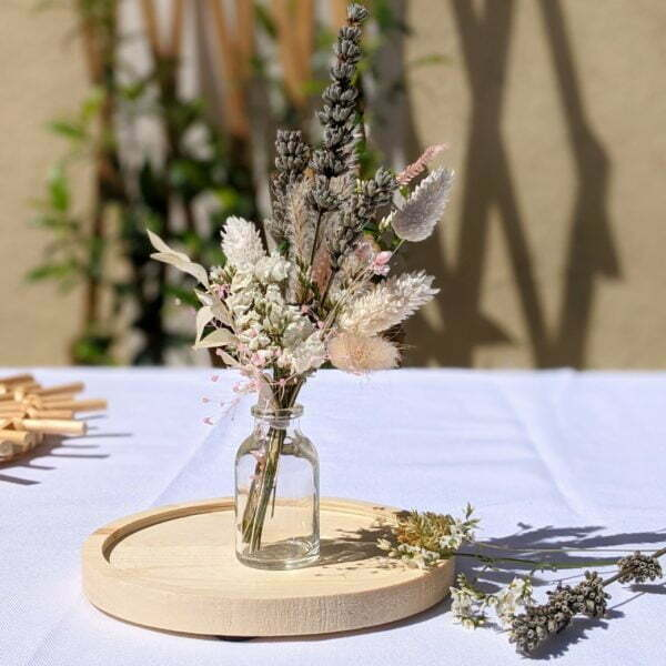 Mini bouquet de fleurs séchées pour décoration de table évènementielle, Fiesta 2