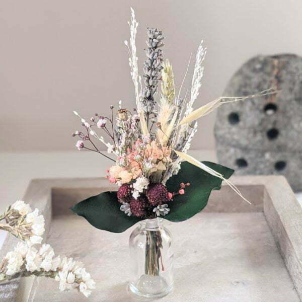 Mini bouquet de fleurs séchées pour décoration de table évènementielle, Fiesta 7