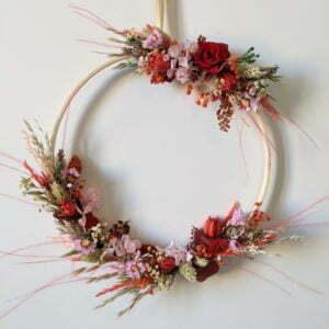 Couronne de fleurs éternelles & fleurs séchées, Valentine