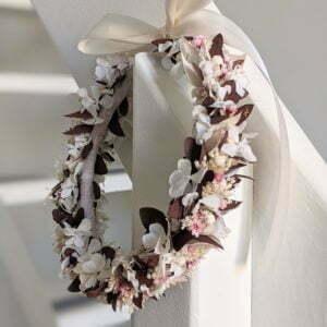 Couronne de fleurs séchées et stabilisées, Aphrodite
