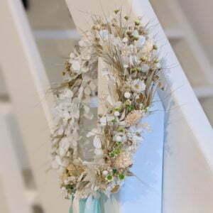 Couronne de fleurs séchées & fleurs stabilisées, Marmara