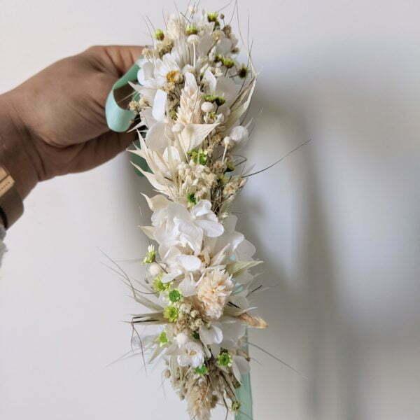 Couronne de fleurs séchées & fleurs stabilisées, Marmara 2