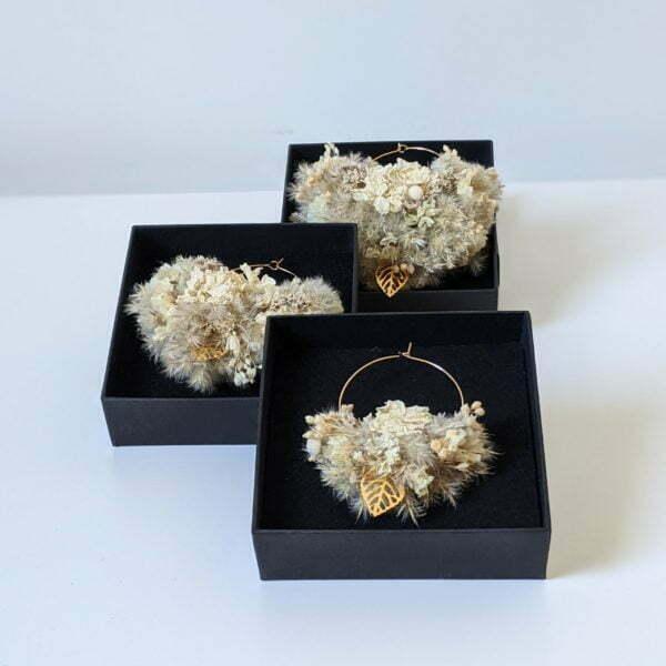 Boucles d'oreilles créoles en fleurs stabilisées, Katy 7