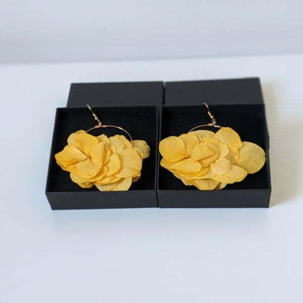 Boucles d'oreilles créoles en fleurs stabilisées, Katy 4