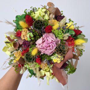 Bouquet de fleurs séchées & fleurs stabilisées, Mila