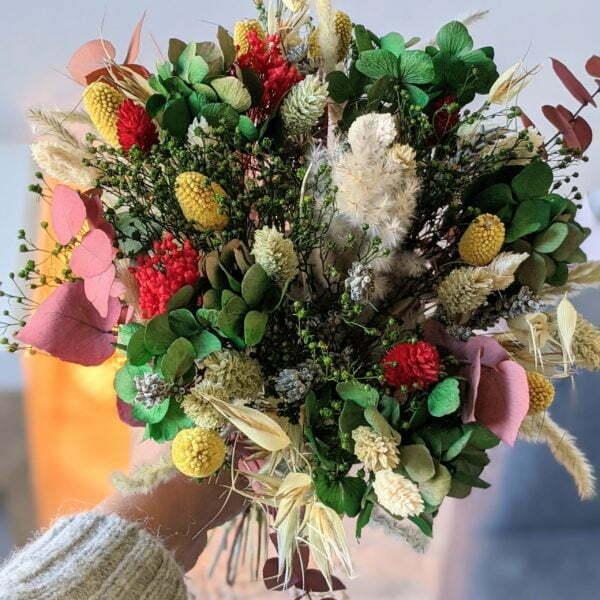 Bouquet de fleurs séchées & fleurs stabilisées, Mila 4