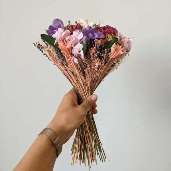 Bouquet de mariée en fleurs séchées & fleurs stabilisées, Nancy 3