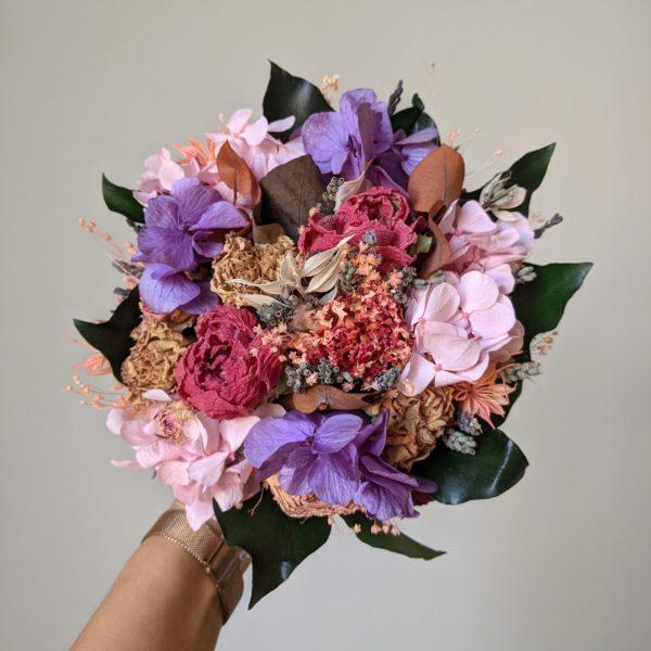 Bouquet de mariée en fleurs séchées & fleurs stabilisées, Nancy 2