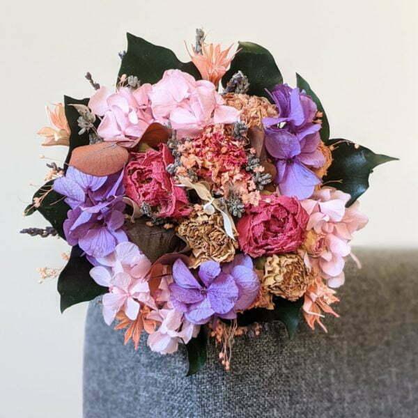 Bouquet de mariée en fleurs séchées & fleurs stabilisées, Nancy