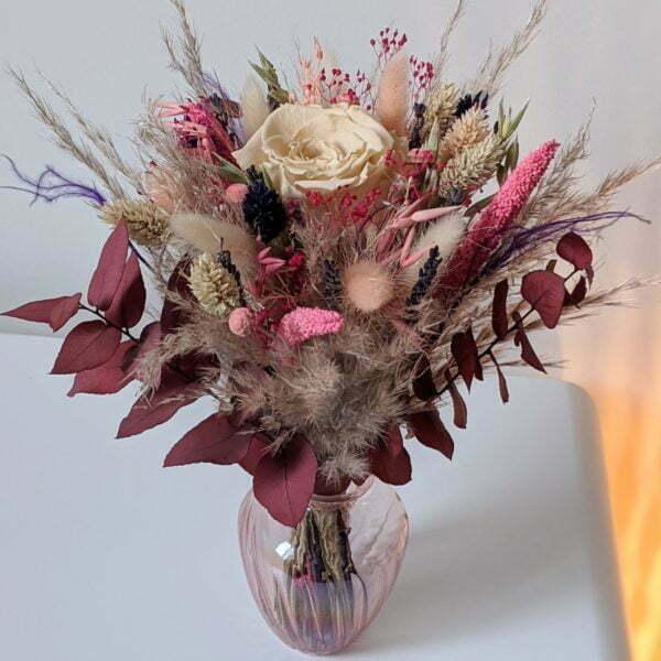 Bouquet de fleurs séchées & fleurs stabilisées, Zara 2