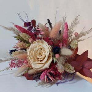 Bouquet de fleurs séchées & fleurs stabilisées, Zara