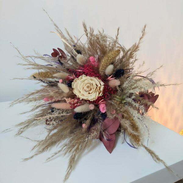 Bouquet de fleurs séchées & fleurs stabilisées, Zara 4