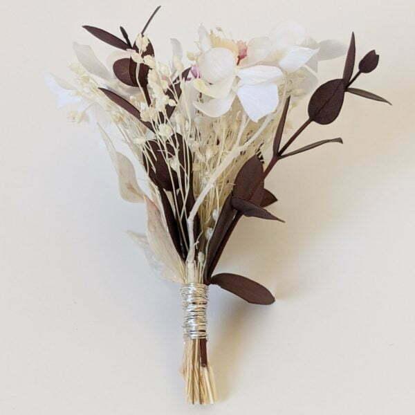 Boutonnière de fleurs séchées et fleurs stabilisées, Aphrodite 2