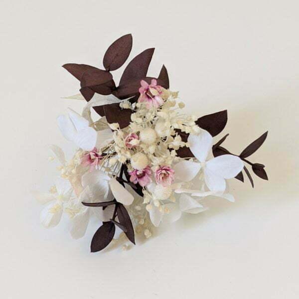Boutonnière de fleurs séchées et fleurs stabilisées, Aphrodite 3