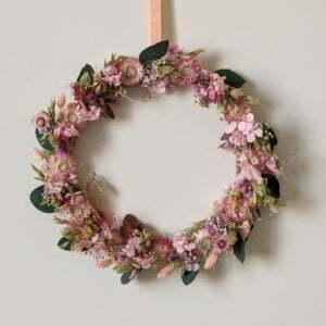 Couronne de fleurs séchées & fleurs stabilisées, Béatrice