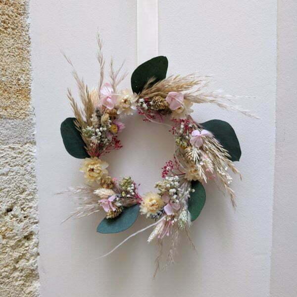 Couronne de fleurs séchées & fleurs stabilisées, Béatrice 5