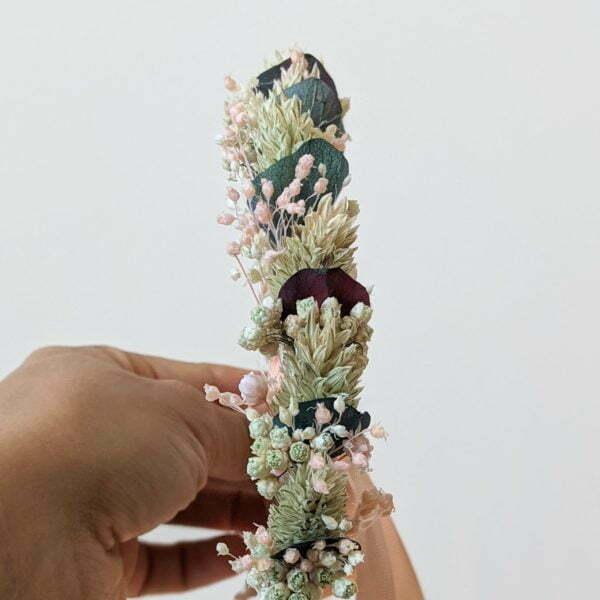 Couronne de fleurs séchées & fleurs stabilisées, Mona 3