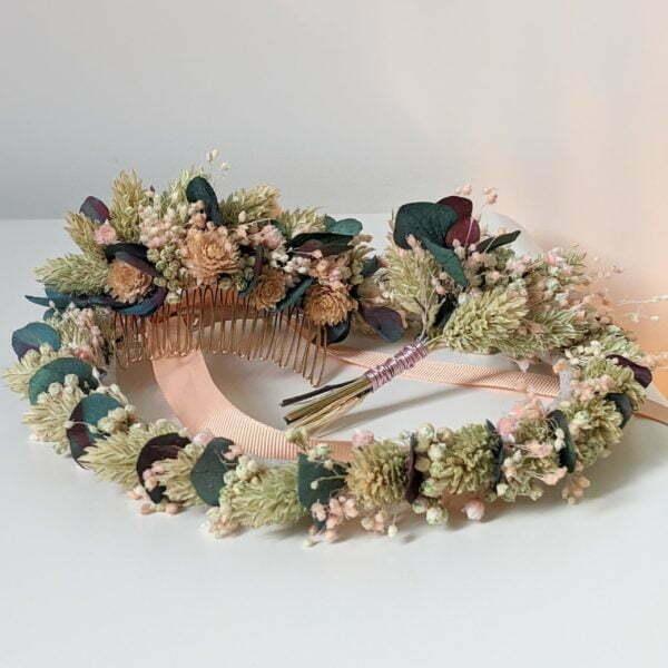 Couronne de fleurs séchées & fleurs stabilisées, Mona 4
