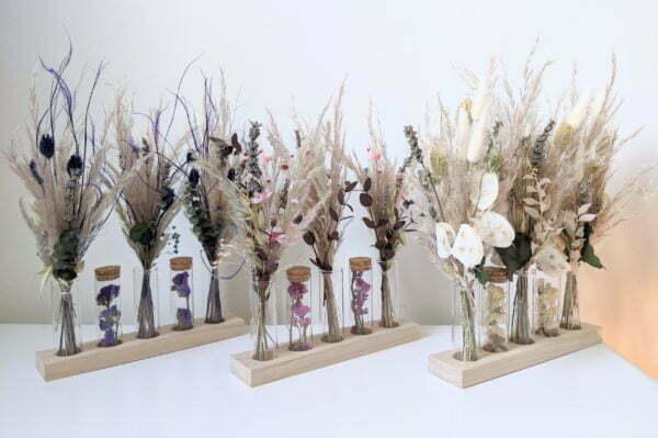 Mini bouquets, fioles en verre, fleurs séchées & fleurs stabilisées, Mona 4