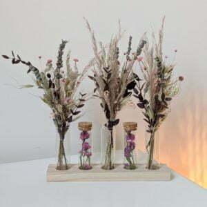 Mini bouquets, fioles en verre, fleurs séchées & fleurs stabilisées, Mona