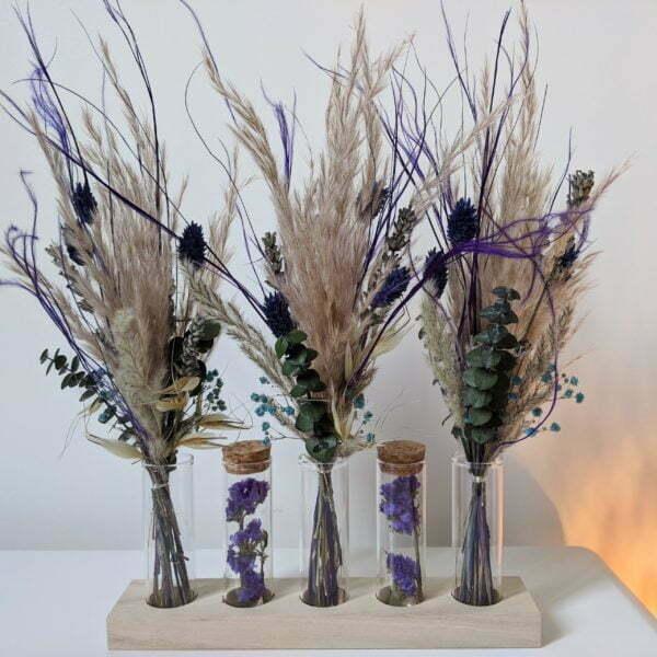 Mini bouquets, fioles en verre, fleurs séchées & fleurs stabilisées, Mona 3