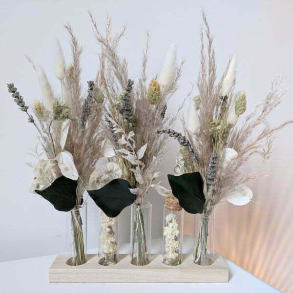 Mini bouquets, fioles en verre, fleurs séchées & fleurs stabilisées, Mona 2