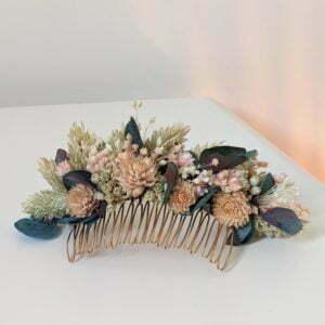 Peigne de fleurs séchées & fleurs stabilisées, Mona