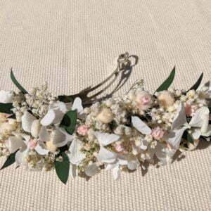 Barrette à cheveux en fleurs séchées & fleurs stabilisées, Rafaela