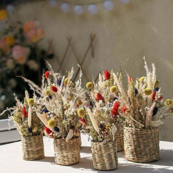 Composition de fleurs séchées et fleurs stabilisées, Sarah 4