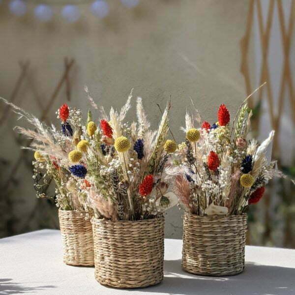 Composition de fleurs séchées et fleurs stabilisées, Sarah 2