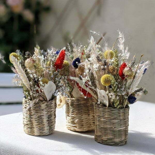 Composition de fleurs séchées et fleurs stabilisées, Sarah 3