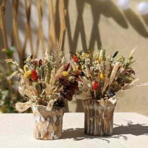 Composition de fleurs séchées et fleurs stabilisées, Sarah