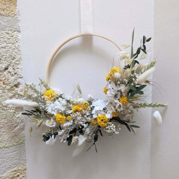 Couronne de fleurs séchées & fleurs stabilisées, Flore