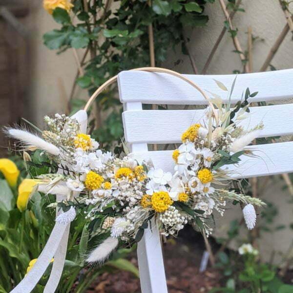 Couronne de fleurs séchées & fleurs stabilisées, Flore 2