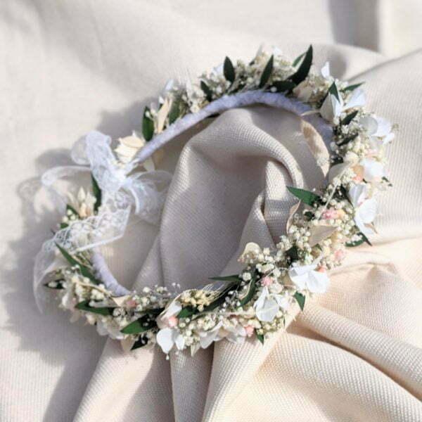 Couronne de fleurs stabilisé & fleurs séchées, Rafaela