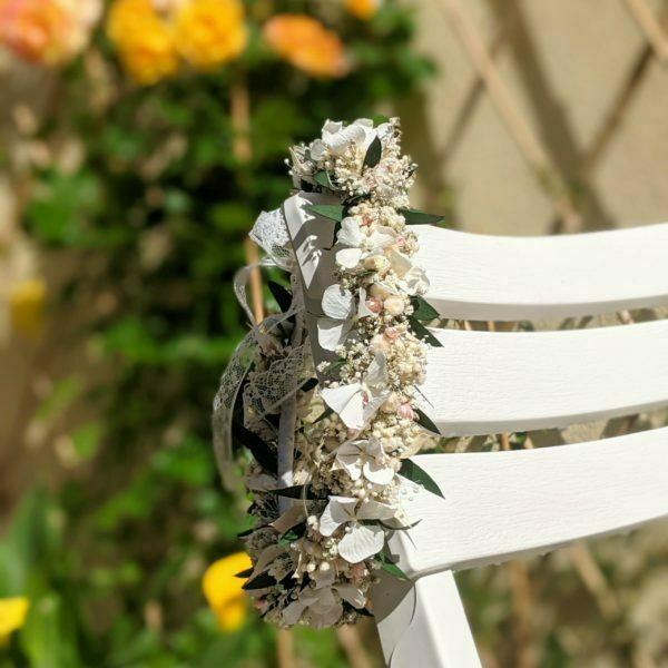 Couronne de fleurs stabilisé & fleurs séchées, Rafaela 4