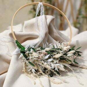Couronne de mariée en fleurs séchées & fleurs stabilisées, Rafaela