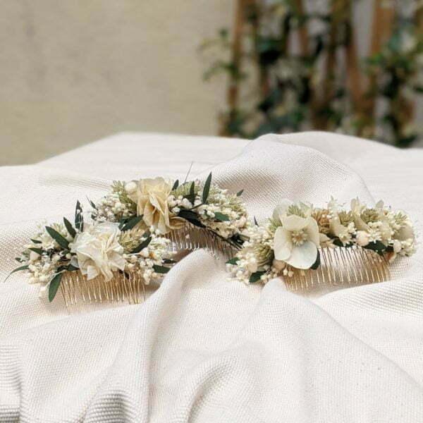 Peigne de fleurs séchées & fleurs stabilisées, Inès 5