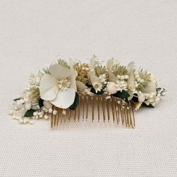 Peigne de fleurs séchées & fleurs stabilisées, Inès 2