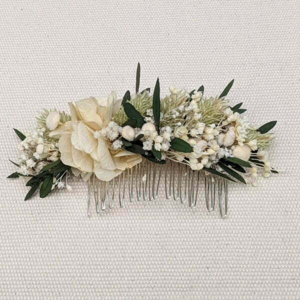 Peigne de fleurs séchées & fleurs stabilisées, Inès 3