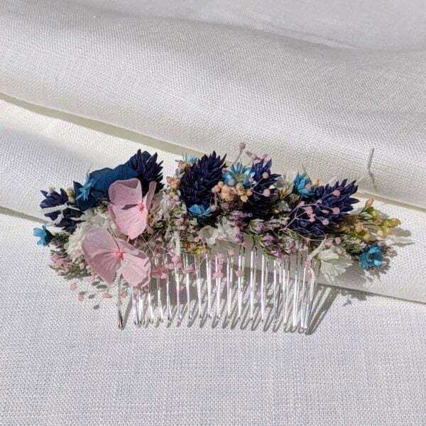 Peigne de fleurs séchées et fleurs stabilisées, Joyce